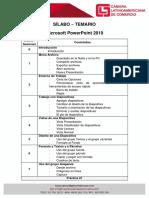 Sílabo - Temario PowerPoint