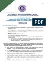 PNB -Oriental Royal MEDICLAIM Prospectus