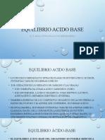 Alteraciones del Equilibrio Acido-Básico