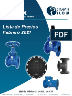 Precios DE VALVULAS 2021
