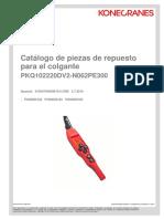 Catalogo de Piezas de Repuestos para el Colgante