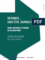 69191 Informer Sans Etre Journaliste Guide Pratique Et Ethique en 50 Questions