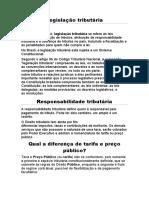Legislação tributária (1)