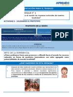 ACT 5-  1 y 2 GRADO - IV EXPERIENCIA DE APRENDIZAJE