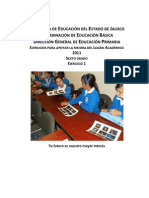 ejercicios para apoyar la mejora del logro academico 2011 sexto