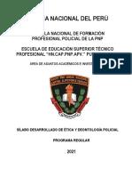 SILABUS ETICA Y DEONTOLOGIA POLICIAL