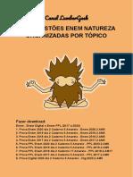 Enem Natureza - 400 Questões Organizadas por Tópicos