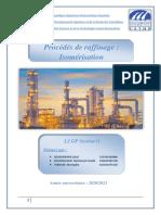 Projet RP Procédés de raffinage  Isomérisation