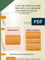 AUDITORÍA DE LA CALIDAD DE LA ATENCIÓN EN SALUD