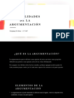 Generalidades de la argumentación, Estephany de mesa