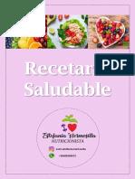 RECETARIO SALUDABLE NUTRICIONISTA ESTEFANIA HERMOSILLA