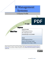 WISE Management Systems Profile Q1 l 2011