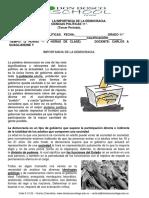 TALLER N° 1  ---  C. POLITICAS 11° ---  LA IMPORTANCIA DE LA DEMOCRACIA