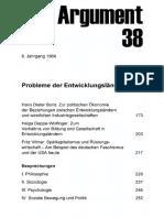 DA038 Probleme Der Entwicklungsländer (III)
