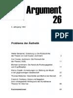 DA026 Probleme Der Ästhetik