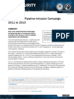 Chinese Gas Pipeline Intrusion Campaign 2011 to 2013