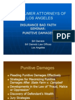 Insurance Bad Faith, Punitive Damages