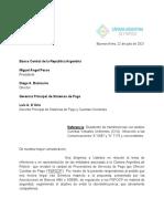Carta Fintech a BCRA