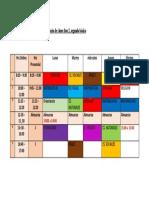 Horario de clases fase 2
