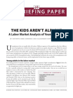 A Labor Market Analysis of Young Workers