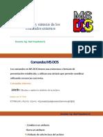 SINTAXIS DE LOS COMANDOS EXTERNOS
