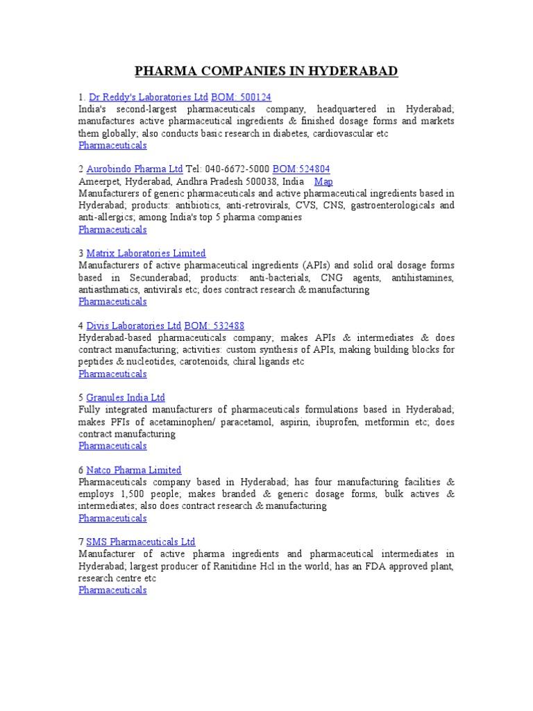 Hyd pharm companies | Biopharmaceutical | Pharmaceutical Drug