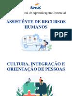 3.1 - Aula ARH - Cultura, Integração e Orientação