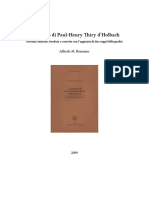 Alfredo M Bonanno_L'ateismo di Paul Henry Thiry d'Holbach