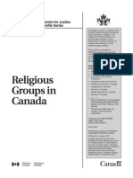 Religious Groups in Canada