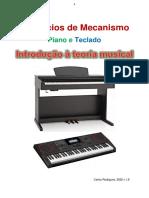Exercícios de Mecanismo para piano e teclado e teoria musical