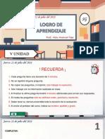 BIOLOGIA 3RO - LOGRO DE JULIO