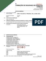FISPQ Karl Fisher Isento de Piridina (1ml=5 0mg H2O)