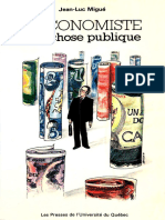 Jean Luc Migué-L'Economiste Et La Chose Publique-Presses de l'Universite Du Quebec (1979)