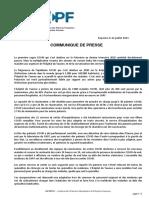 Sphpf - Communique de Presse 22 Juillet 2021