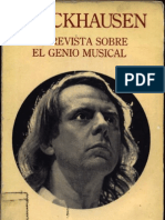 Stockhausen Entrevista sobre el genio musical, por, Mya Tannenbaum