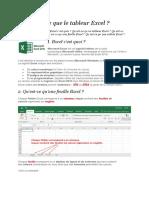 Les fonctions de base Excel niveau 1