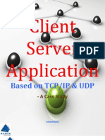 Client Server Application Based on TCP-IP & UDP - Case Study