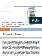 Digital Library Management System in the Context of OSS - Anil Mishra