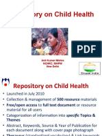 Repository on Child Health by Anil Mishra