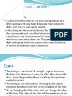 CAPITAL STRUCTURE –THEORIES