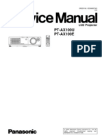 Panasonic PT-AX100 Service Manual