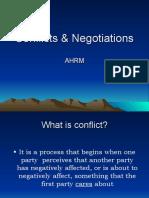 Conflicts & Negotiations