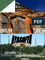 Class Powerpoint on the Hagia Sophia by Gokay at Bilfen Schools, Istanbul, Turkey