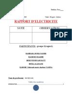 RAPPORT DE TRAVAUX PRATIQUE ELECTRICITE BTP1C