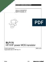 datasheet BLF175