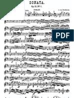 Beethoven Violin Sonata 1 Violin d Major
