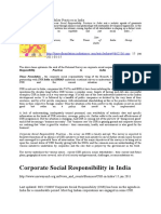 Corporate Social Responsibility Practices in India