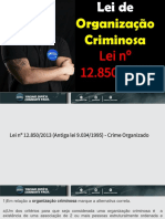 QUestões de Lei de Organização Criminosa