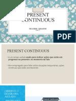 apresentação ppt present continuous