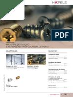 13- Hafele - Material de Fixação e Ferragens Para Colagem de Vidro